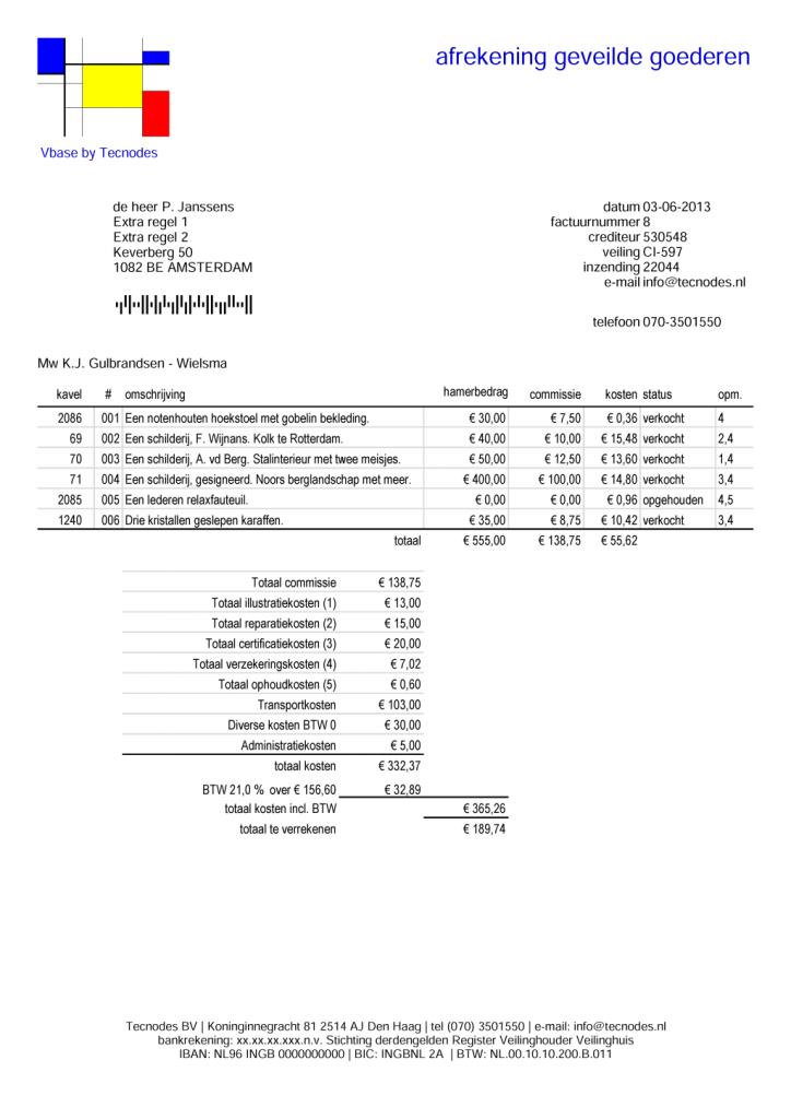 verkoop factuur Verkoop Factuur | gantinova